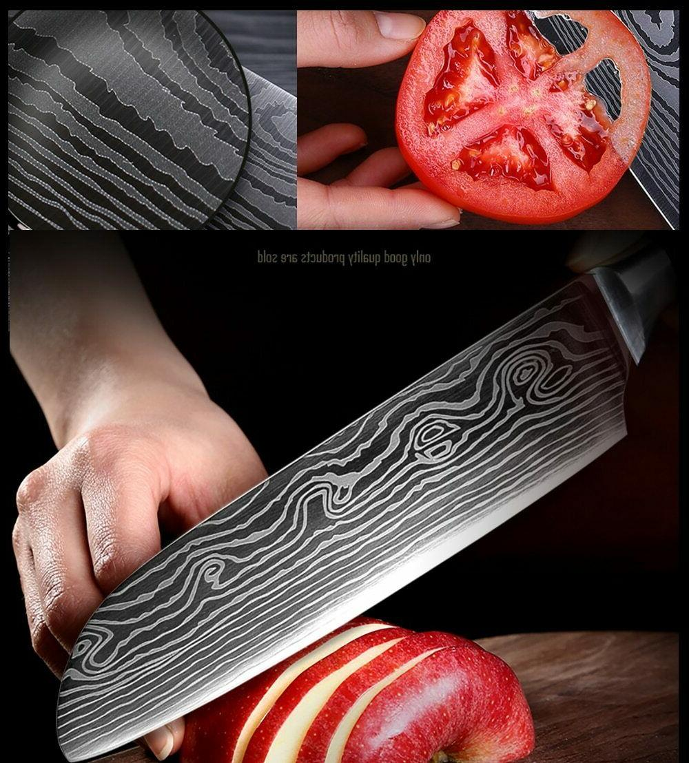 Chef Japanese Damascus Knives Cleaver