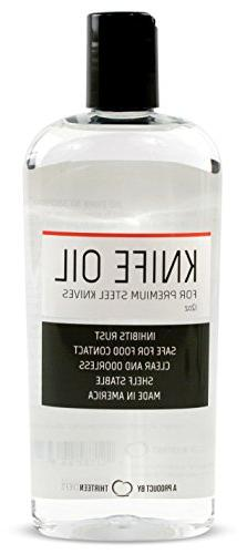 Thirteen Chefs Knife and Honing Oil 12oz - Food Safe, Protec