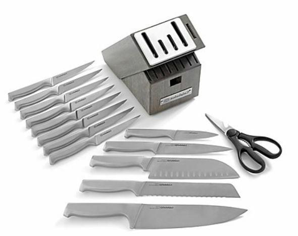 Self-Sharpening 15-Piece Cutlery Set Kitchen Cooking