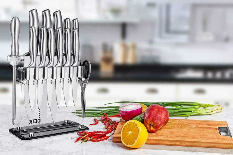 Knife German Acrylic Stand High Kitchen