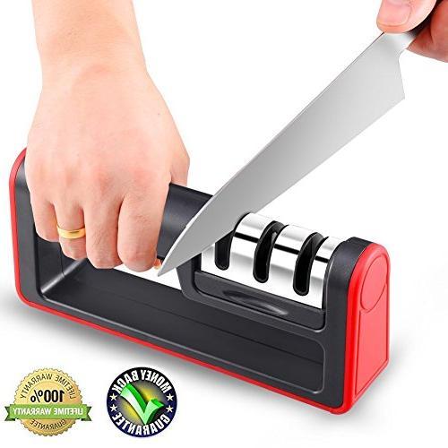 manual stainless steel knife sharpener