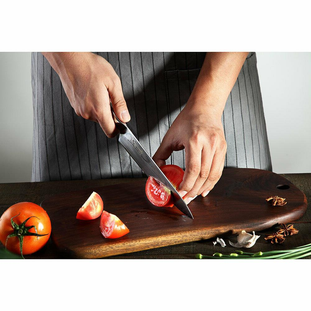 Multi-layer steel chef knife G10 handle 8 kitchen cut