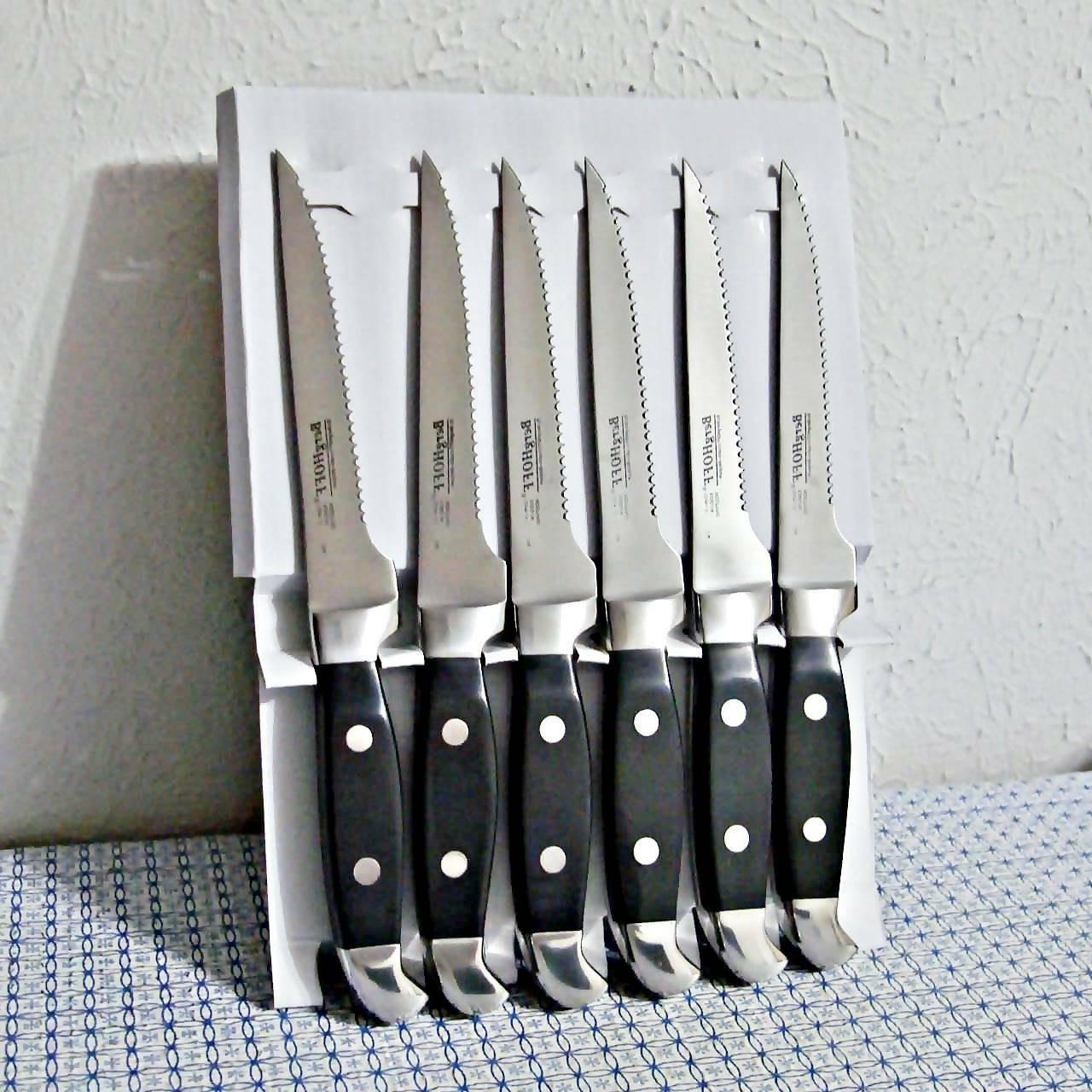 """NEW BergHOFF® CLASSIC FORGED 4.75"""" STEAK KNIFE - SET OF 6"""