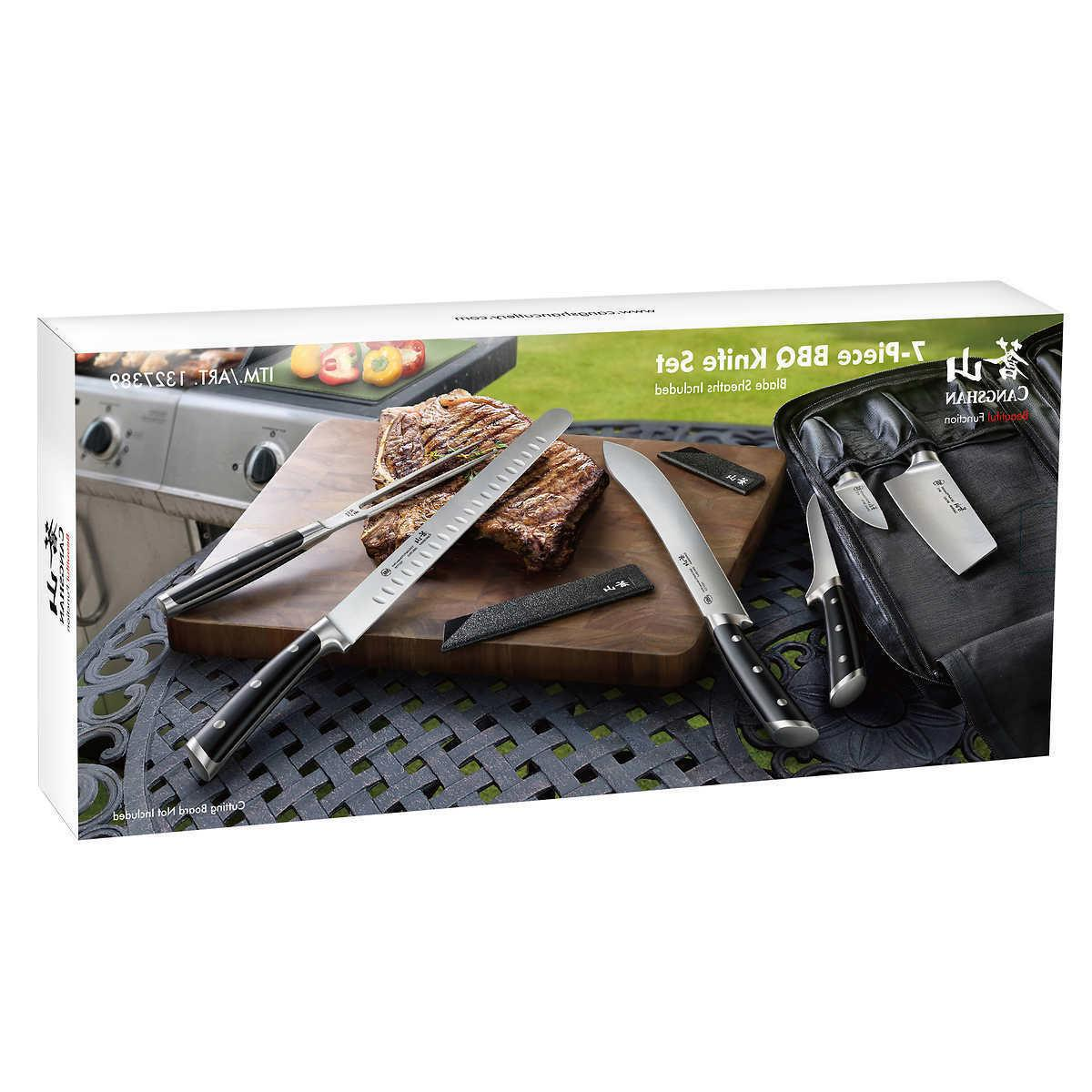 New Sealed S Series 7 Piece BBQ Chef Kitchen Cook Knife Set Free