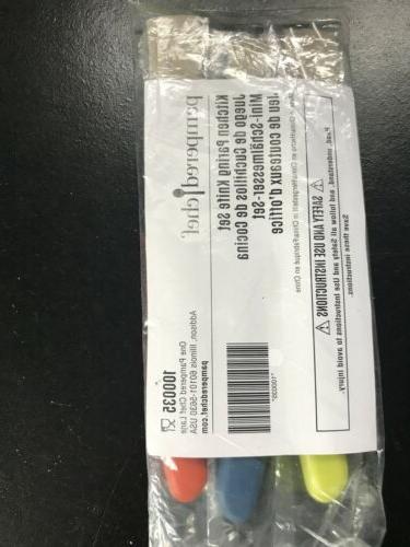 PAMPERED CHEF 3 KITCHEN KNIFE SET. 100035 Sealed