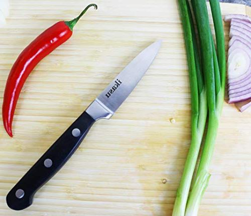 ikasu 3.5 inch Knife Carbon Stainless Steel Kitchen | Edge, Strong Durable Full Luxury Handle