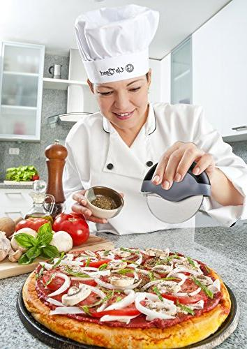 Pizza | Premium Edition Slicer | Sharp | Soft Grip, Safety Cover & Stainless Steel | Clean Ease
