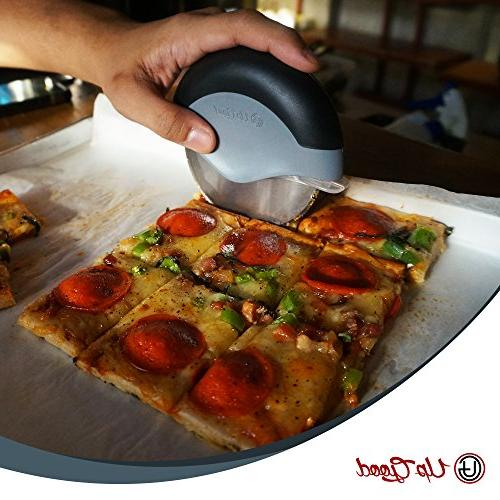 Pizza | Edition 2 Sharp Round Soft Grip, & Steel Wheel | Slice and Clean with Ease