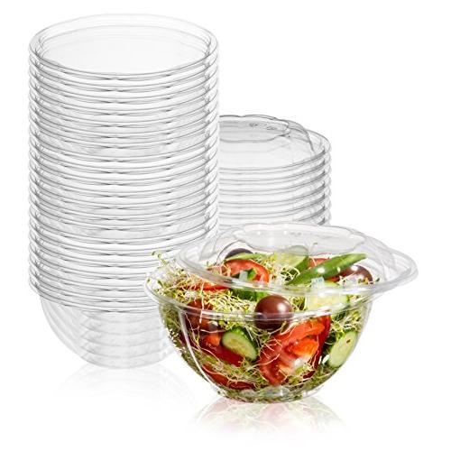 plastic disposable salad bowls