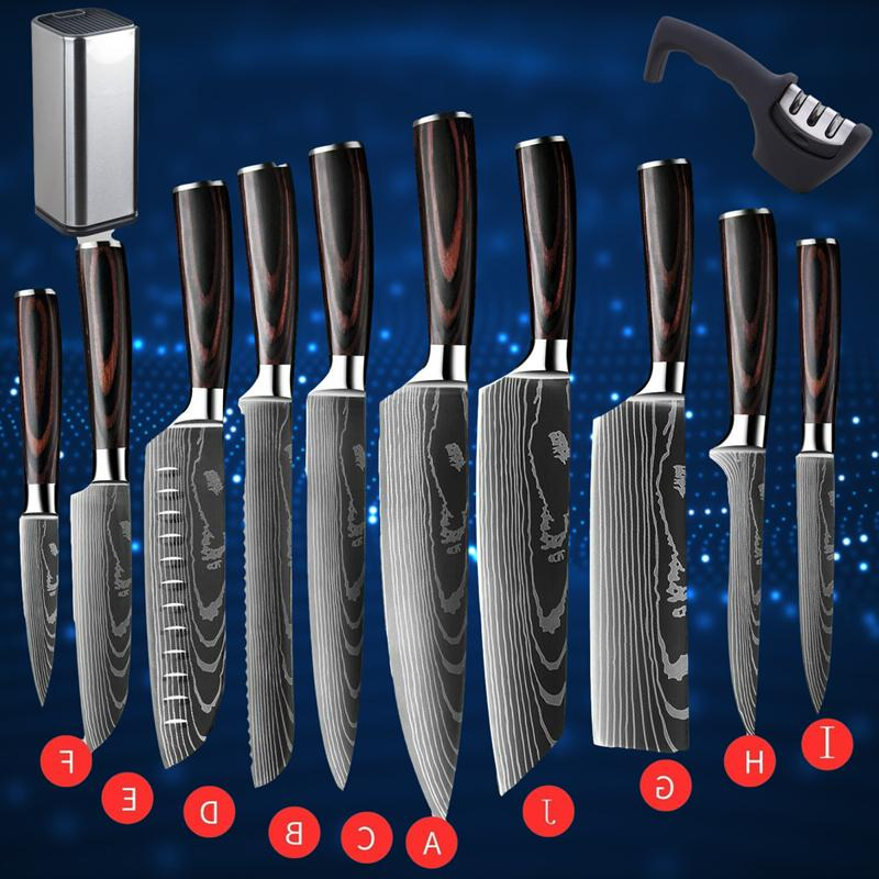 professional kitchen chef knife set stainless steel