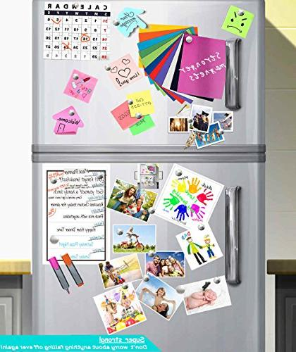 Refrigerator 80PACK Magnets,Dry Erase Board Magnets, for Office Multi-Use Round Disc Whiteboard Map Magnetic Sliver DIY Decoration
