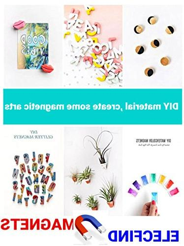 Magnets,Dry for Office Multi-Use Fridge Round Disc Map Magnetic Pins Sliver DIY Resin Decoration