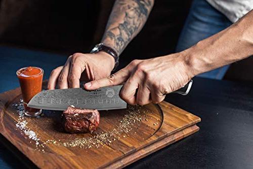 Santoku - Damascus Knife Finish - Ultra High Knives - Quality, All Purpose, Precision
