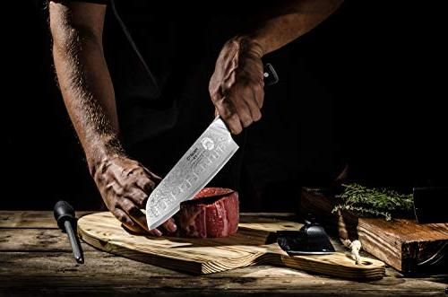 Santoku Knife, 7 inch, Grade - Knife with Finish - Ultra High Carbon Knives - Quality, All Precision