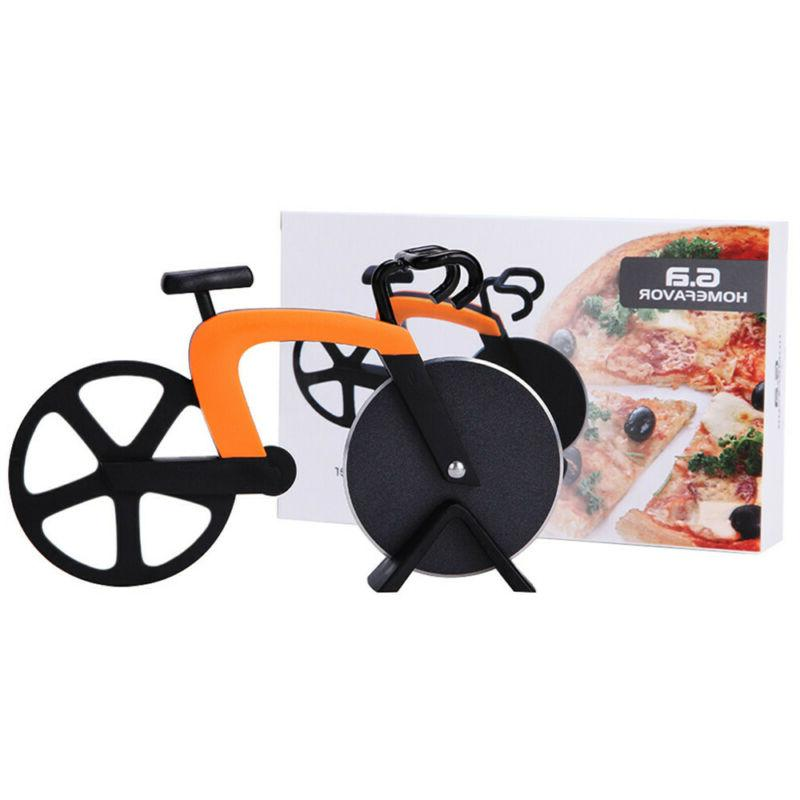 stainless steel bicycle pizza cutter dual bike