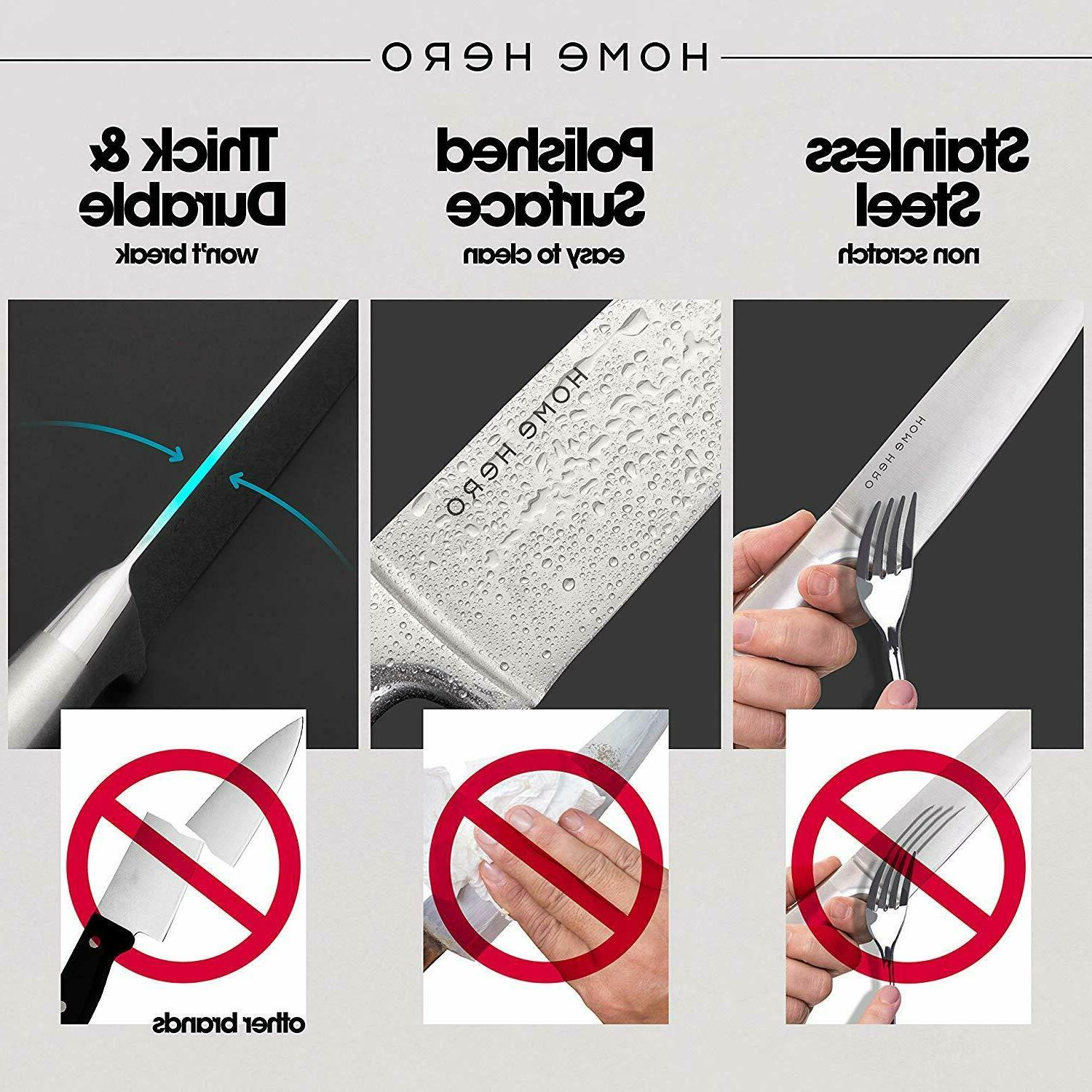 Stainless Set 13 Kitchen Knives set Set