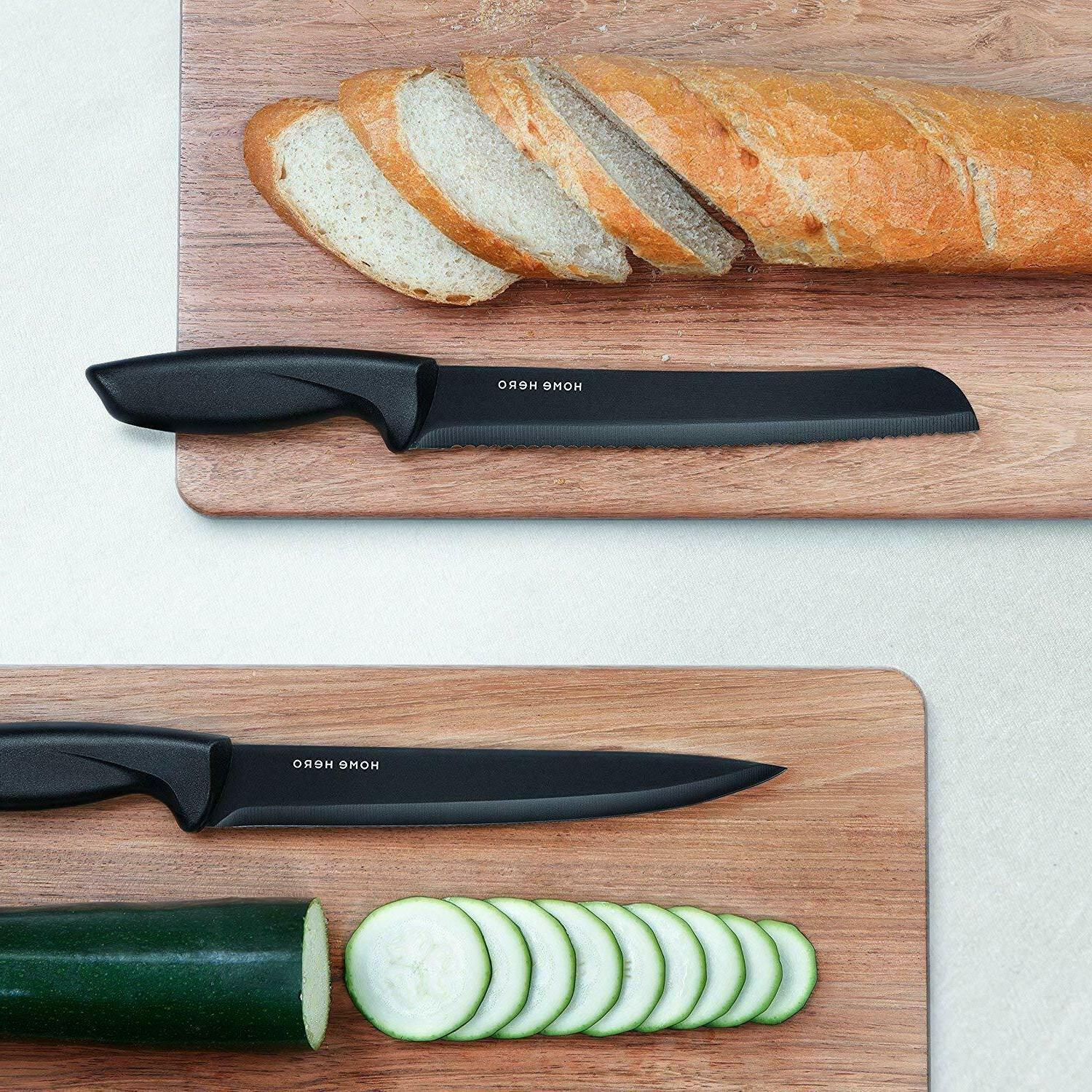 Stainless with Block Kitchen Knives Set Chef