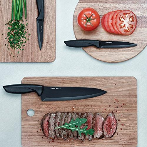 Chef Knife Knives Kitchen Set Kitchen Knives Set Kitchen Set with Stand Plus Professional - 7 Steel Cutlery by