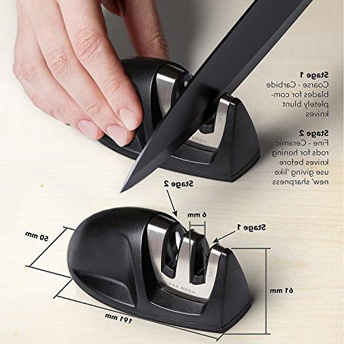 Chef Knife Set Kitchen Kitchen Knives Set Set Stand Plus Knife Sharpener - Piece Stainless Steel by