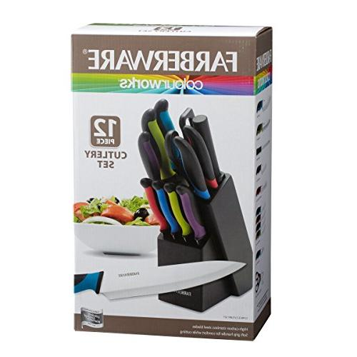 Farberware Two-Tone Stainless Steel Knife Set