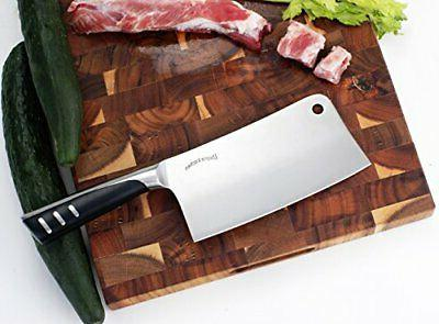 Utopia Kitchen 7 Inches Stainless Steel Chopper Cleaver Butc