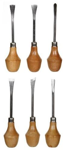 6 pc Wood Carving Knives Knife CHISEL SET with Ball Handles