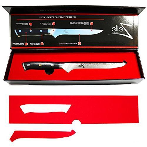 ZELITE Boning Knife 6 - Series Japanese VG10 Steel 67 Layer High Stainless Steel Sharp Superb Retention, &