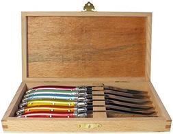 Neron Coutellerie 6 Piece Laguiole Knife Set Handles In Pres