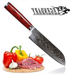 LEGENDARY Santoku Knife 7 inch Japanese Steel Damascus Blade
