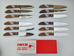 Lot of 12 KIWI #503 Stainless Steel - Wood Handle - Utility/
