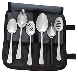 Mercer Culinary 7-Piece Plating Spoons II Set, Silver