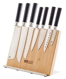 "PREMION 12"" Magnetic Bamboo Knife Holder, Wooden Knife Block"