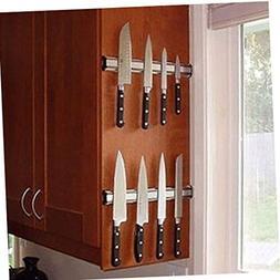 DE Set of 2 14 inch Magnetic Knife Holder Rack Bar Heavy Dut