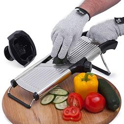 Mandoline Slicer with FREE Cut-Resistant Gloves and Blade G