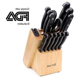 McCook MC22 14 Pieces Knife Set Includes Chef Knife, Slicing