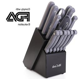 McCook MC32 14 Pieces FDA Certified Knife Block Set with All
