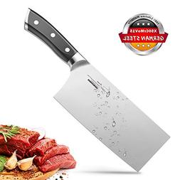 Meat Cleaver 7 Inch Chinese Kitchen Knife Butcher German HC