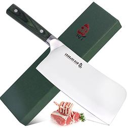 TUO Cutlery 7 inch Meat Cleaver Chopper Knife - Japanese Ult