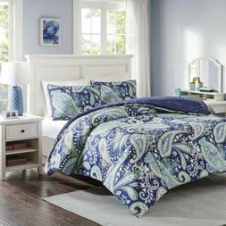 Intelligent Design Melissa King Size Bed Comforter Set - Nav