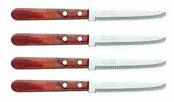 Tramontina Micro Serrated Scalloped Sirloin Steak Knives, 4-