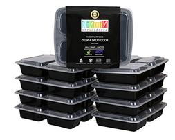 3 Compartment Meal Prep Containers - Divided Lunch Container