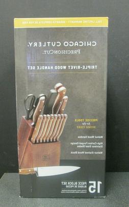 NEW!! Chicago Cutlery - 1134513 - 15 Pc Precision Cut Kitche