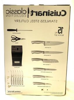 NEW - Cuisinart 15-pc. Cuisinart Classic Hollow Handle Knife