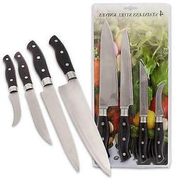 New 203753  Stainless Steel Knife 4-Piece Set  Kitchen Tools
