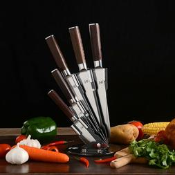 New Kitchen Knives With Color Wood Handle Stainless Steel Ki