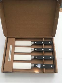 NEW AmazonBasics Premium 8-Piece Kitchen Steak Knife Set, Bl