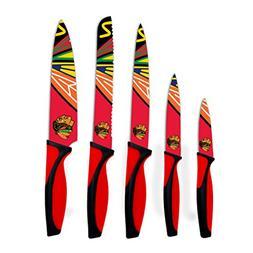 sportsvault NHL Chicago Blackhawks Kitchen Knives , Red