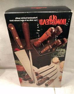 Old Homestead Professional Kitchen Knife Set Butcher Block 6