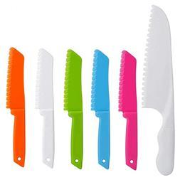ONUPGO Plastic Kitchen Knife Set  - Chef Nylon Kids Knife Se
