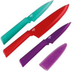 Kuhn Rikon Color Plus Culinary Set, Red/Teal/Purple